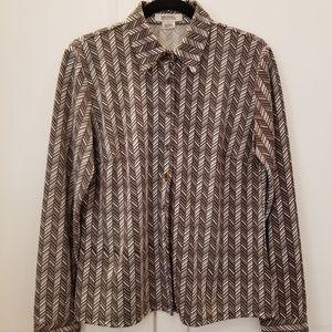 Michael Kors button down long sleeved shirt